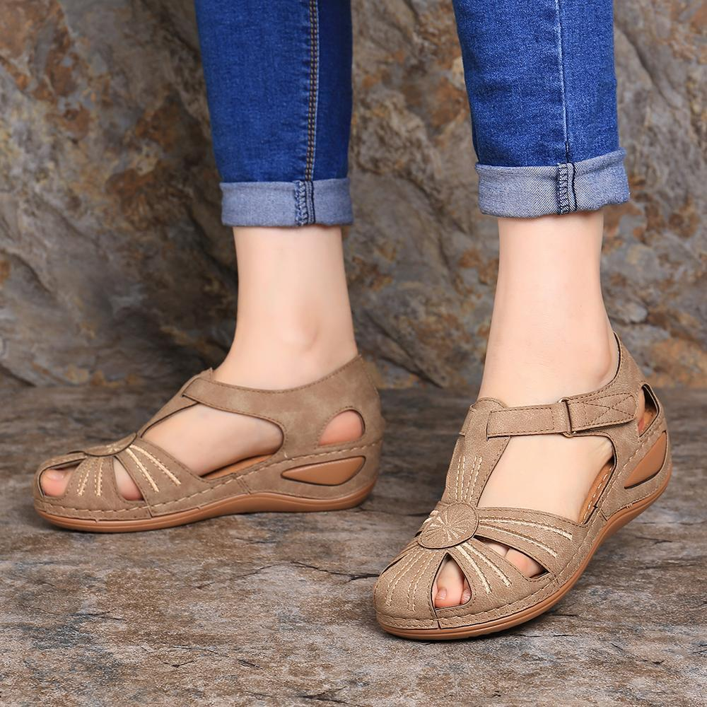 KbnMart LOSTISY Women Wedges Shoes Splicing Casual Comfy Sandals KBN MART