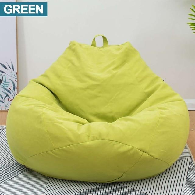 KbnMart Lazy BeanBag Sofas without Filler Linen Cloth Lounger Seat Bean Bag Cover Chairs Pouf Puff Couch Tatami Living Room Furniture - KbnMart