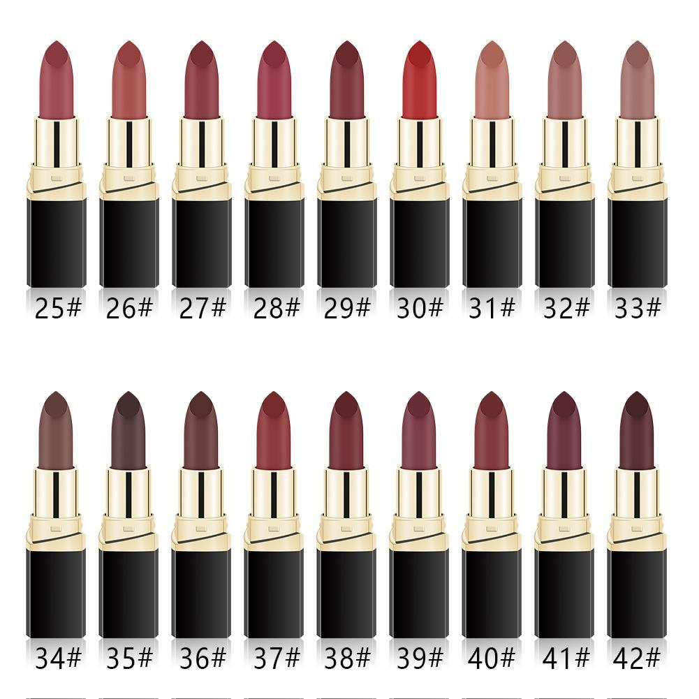 KbnMart MISS ROSE Lipstick Matte Waterproof Make Up Long Lasting Lip Stick 42 Colors Easy To Wear Lipstick  Lips Makeup  Mate Lipstick - KbnMart