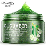 KbnMart Natural Cucumber hydration Skin Care Scrub/Go Cutin Facial Gel Face Body Smoothing Exfoliating Cream Skin Body Care - KbnMart