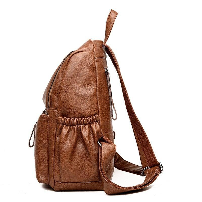 KbnMart Vintage genuine leather backpack women Elegant Backpack Female Shoulder Bag Travel Woman Back Pack Luxury Sac A Dos Femme - KbnMart