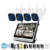 KbnMart 1080P 2MP Wireless Security CCTV IP Camera System NVR 12 inch LCD Monitor 4Ch 8CH Camara wifi Video Surveillance Kit P2P - KbnMart