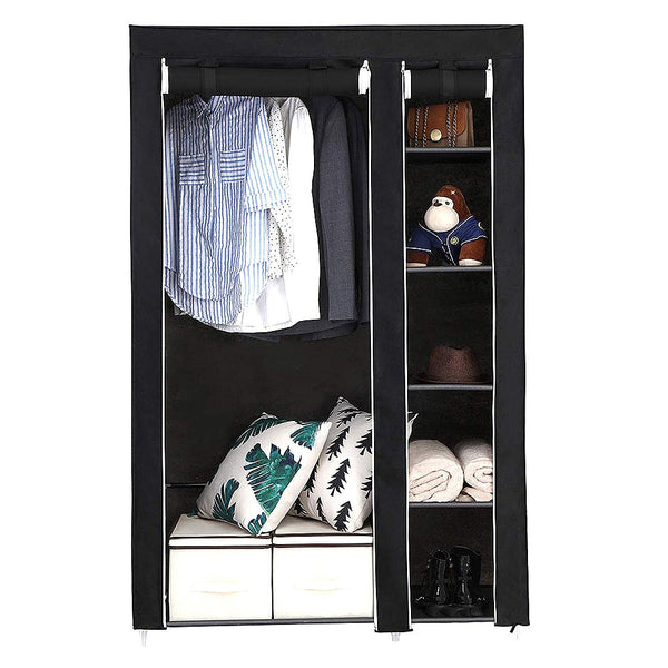 KbnMart Large Capacity Multi-function Cloth Wardrobe Folding Clothing Storage Cabinet DIY Assembly Reinforcement Wardrobe Closet HWC - kbn-mart.myshopify.com