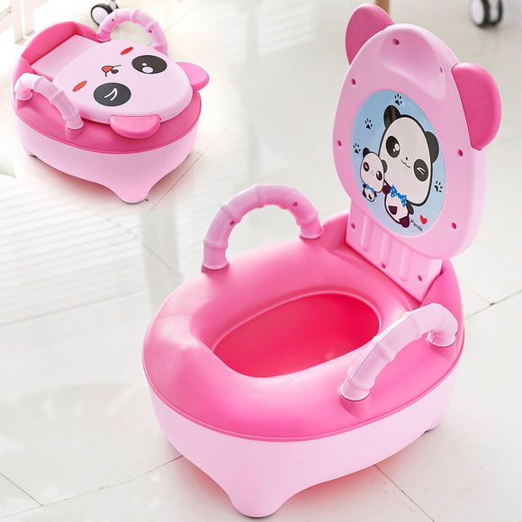 KbnMart Baby Pot Children Training Potty Toilet Seat Kids Cartoon Panda Toilet Trainer Portable Travel Urinal Comfortable Backrest Pots