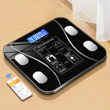 KbnMart Body Fat Scale Smart Wireless Digital Bathroom Weight Scale Body Composition Analyzer With Smartphone App Bluetooth - KbnMart