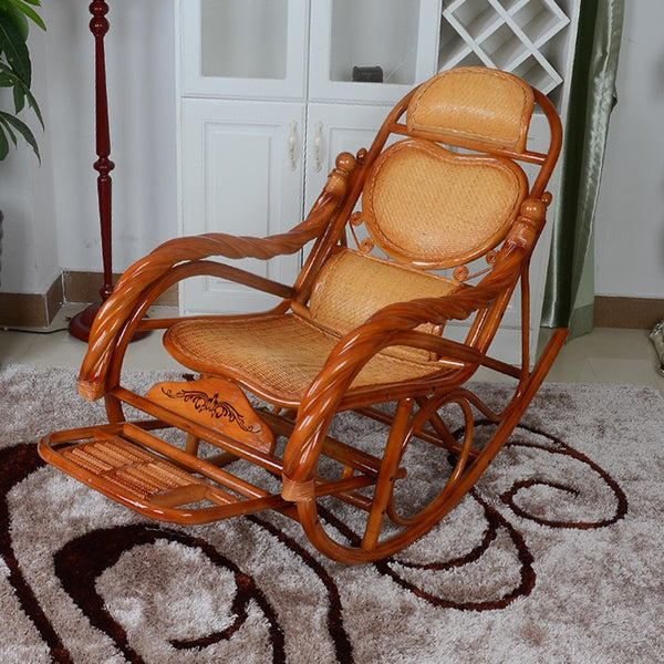 KbnMart Furniture rocking chair lounge chair indoor and outdoor lounge chair nap lazy leisure leisure chair rattan chair rattan chair ro
