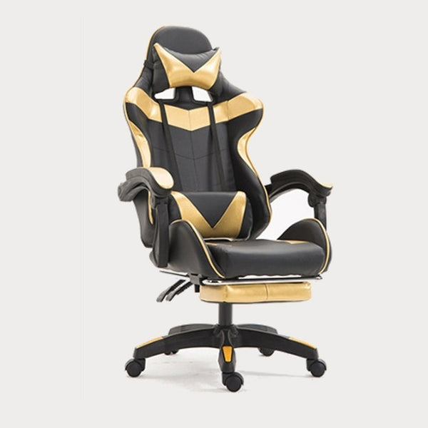 KbnMart PU Leather Racing Gaming Chair Office High Back Ergonomic Recliner With Footrest Professional Computer Chair Furniture 5 Colors