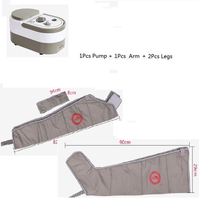 KbnMart Air Wave Pressure Pressotherapy Massage Compression Circulator Leg Arm Waist - Lymphatic Drainage Device For Muscles Relax - KbnMart