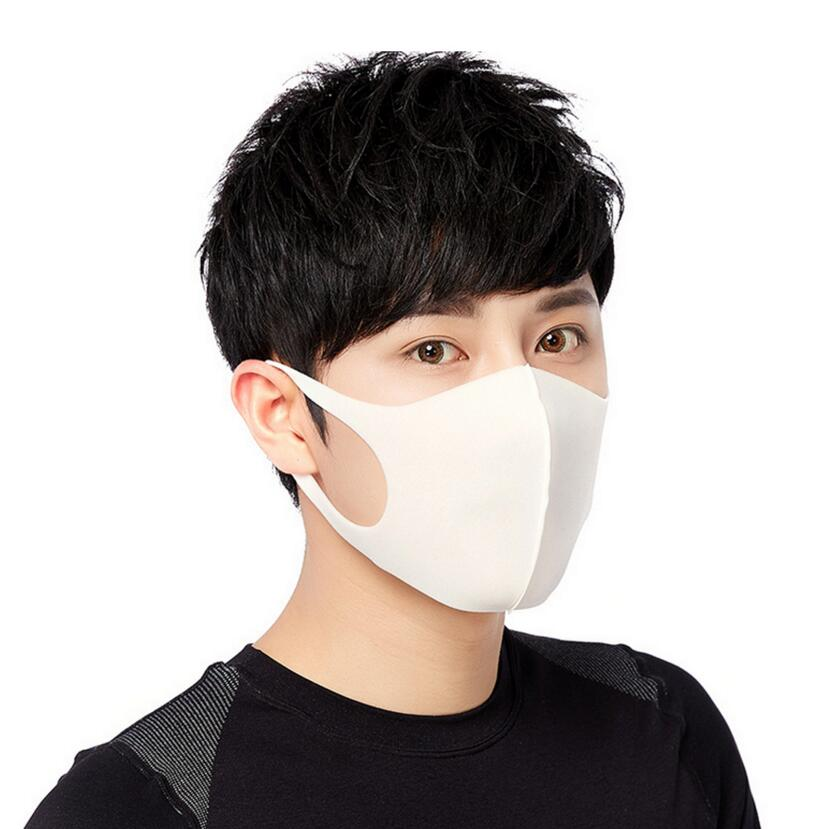 KbnMart Moledodo 100pcs/lot White Mouth Mask Adult Anti Haze Sponge Face Mask Fashion style Anti-dust Windproof Black Mouth Mask D50 - KbnMart