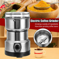 TTLIFE Coffee Grinder Electric Mini Coffee Bean Nut Grinder Coffee Beans Multifunctional Home Coffe Machine Kitchen Tool EU Plug - kbn-mart.myshopify.com