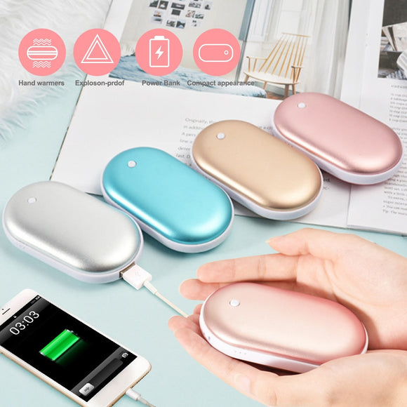 KbnMart Cute Hand Warmer Long life USB Rechargeable Power Bank Hand Warmer Portable Electric Heating Pad Heater Travel Home Mini Warmer - kbn-mart.myshopify.com