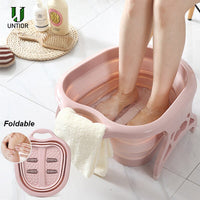 Foldable Footbath plain foaming massage bucket Plastic foot bath basin large heightening footbath fording barrel Reduce Pressure - kbn-mart.myshopify.com