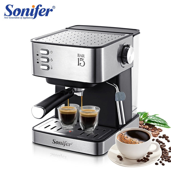 KbnMart Espresso Electric Coffee Machine Coffee Maker Electric-Horn Cappuccino Capuchinator for Kitchen Household-Appliances Sonifer