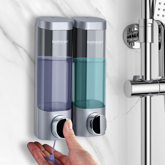 Bathroom Liquid Soap Dispenser Wall Mounted For Kitchen Plastic 300ml Shower Gel Detergent Shampoo Bottle Hotel Home Accessories - kbn-mart.myshopify.com