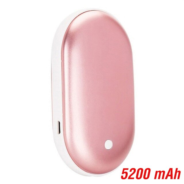 KbnMart Cute Hand Warmer Long life USB Rechargeable Power Bank Hand Warmer Portable Electric Heating Pad Heater Travel Home Mini Warmer - KbnMart