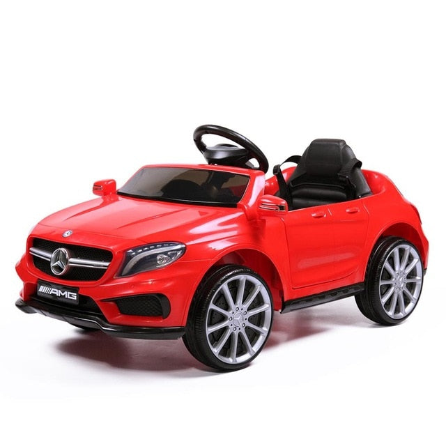 KbnMart Licensed Mercedes Benz Kids 4-Wheel Soft Seat Ride On Car Toy with Remote Control 12V Power Battery AMG GLA Baby Stroller TY0452 - KbnMart