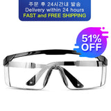 KbnMart Goggles medical anti-fog saliva antibacterial isolation dust-proof wind-proof sand anti-fog multi-function labor protection - KbnMart