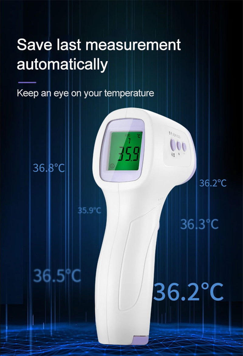 KbnMart new Muti-fuction Baby/Adult Digital Termomete Infrared Forehead Body Thermometer Gun Non-contact Temperature Measurement Device - KbnMart