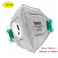 KbnMart Grey N95 Respirator Mask One Time PM2.5 FFP3 Mask In Stock By Fast Shipping In 24 Hours