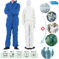 KbnMart Reusable Coverall Hazmat Suit Protection Protective Disposable Protective Clothing Anti bacterial Work Medical Isolation Suit