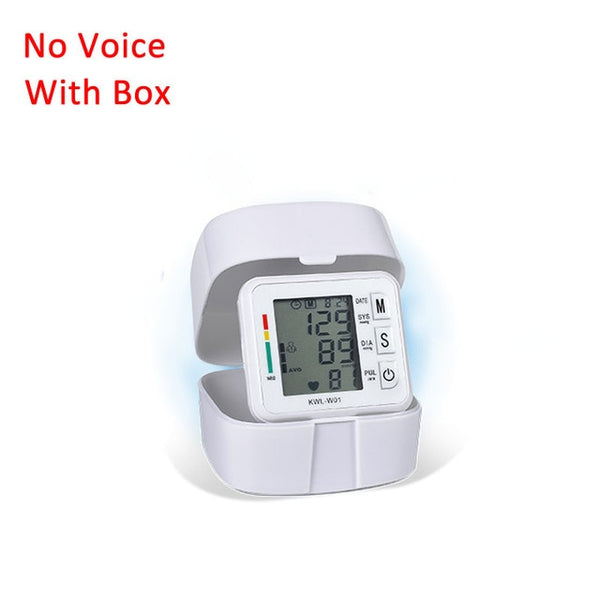 KbnMart Sphygmomanometer Automatic Voice Wrist Digital Blood Pressure Monitor Tonometer Meter Wrist LCD Display