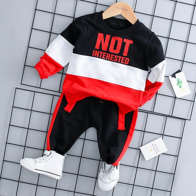 KbnMart New Kids Clothes Baby Boys Costume Letter Tracksuit Tops Pants Children spring  Boys Outfits girls Set infantil Newborn 2PCS - KbnMart