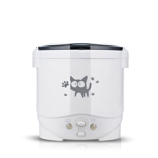 KbnMart 1L Electric Mini Rice Cooker Multifunctional Portable Cookers Used In House 220V Or Car 12V Truck 24V Used as Lunch Box - KbnMart