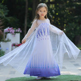 KbnMart Frozen 2 Fantastic Anna Elsa 2 Princess Dress Up White Halloween Costume Sequined Long Gown Kids Wedding Dresses Cosplay Clothes