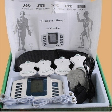 KbnMart JR-309 Electrical Stimulator Full Body Relax Muscle Therapy Massager Pulse tens Acupuncture with therapy+16 pads