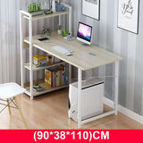 KbnMart Computer Laptop Desk with Shelves Simple Modern Single Bedroom Simple Office Desk  with 4 Tiers Bookshelf Combination for Home