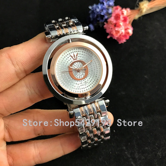 KbnMart New Women's Watches Brand Fashion Watch Women Luxury Pandoraes Rose Gold Bracelet Woman Watches Ladies Dress Clock