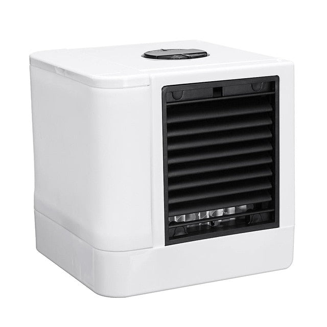 KbnMart Mini USB Portable Air Conditioner Air Cooler Humidifier Purifier 7 Colors LED Light Desktop Air Cooling Fan for Office Home New - KbnMart