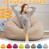 KbnMart Lazy BeanBag Sofas Cover Chairs without Filler Linen Cloth Lounger Seat Bean Bag Puff asiento Couch Tatami Living Room Furniture