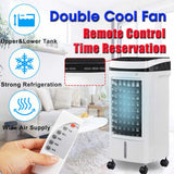 KbnMart Portable Air Conditioner 220V Air Cooler Fan Humidifier Mute Timed Floor Fan Mobile Mini Air Conditioner for Office Home