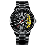 KbnMart Car Rim Hub Wheel Watch Custom Design Car Rim Sports Wheel Watch Waterproof Creative Male Watches Men's Wristwatch