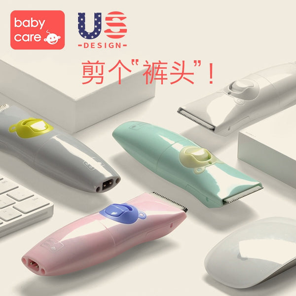 KbnMart Newborn Baby Electric Hair Clipper Ultra-quiet USB Rechargeable Waterproof Hair Trimmers Infant Kids Hair Care Cutting Remover