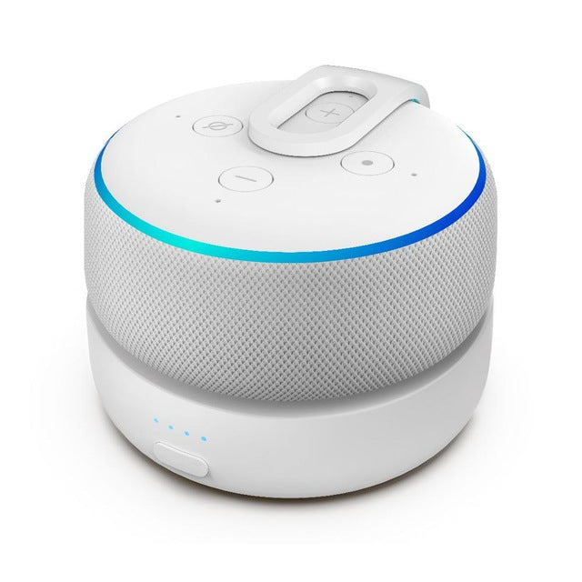 KbnMart Echo Dot Charging Station Portable Battery Base For 3rd Gen Portable Alexa Speaker Battery Charging 8H (Dot Not Included) - KbnMart