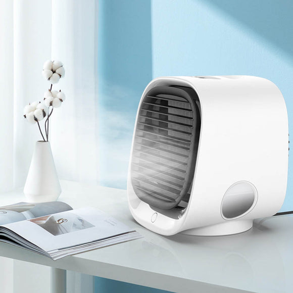 KbnMart Home Office Desk Air Conditioning Portable Mini Air Conditioner Fan Personal Space Fan Air Cooler USB Cooling Fan