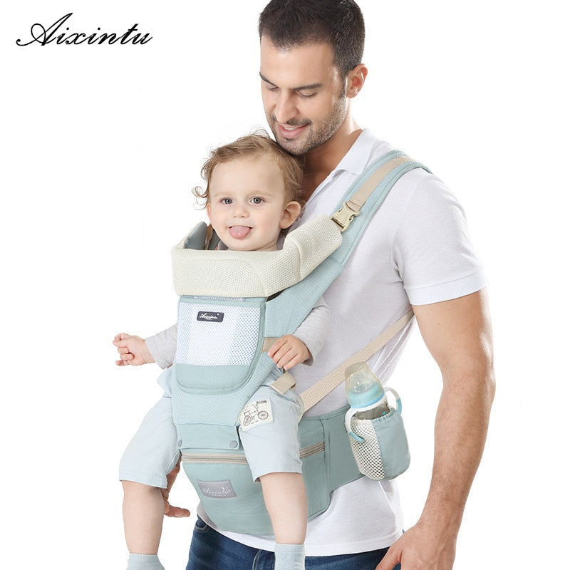 Ergonomic new born Baby Carrier Infant Kids Backpack Hipseat Sling Front Facing Kangaroo Baby Wrap for Baby Travel 0-36 months - KbnMart