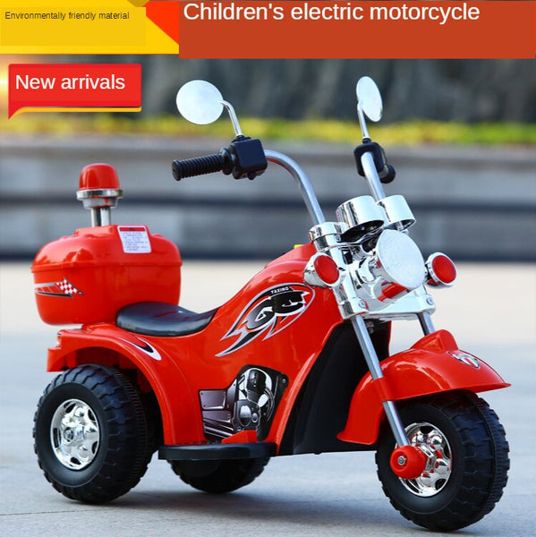 KbnMart Electric tricycle for kids, motorcycle, off-road cargo car, baby, three wheels, bike, ride on car for kids