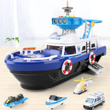 Kids Toys Simulation Track Inertia Boat Diecasts & Toy Vehicles Music Story Light Toy Ship Model Toy Car Parking Boys Toys - KbnMart