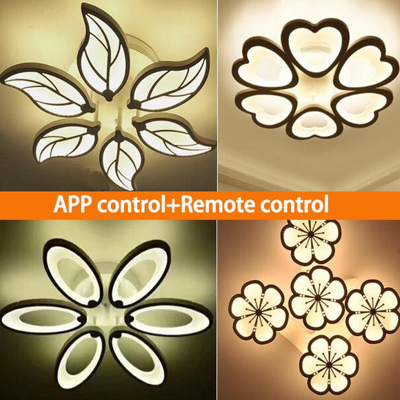 KbnMart New Design Acrylic Modern Led Ceiling Lights Indoor lighting 100-240V APP Remote control