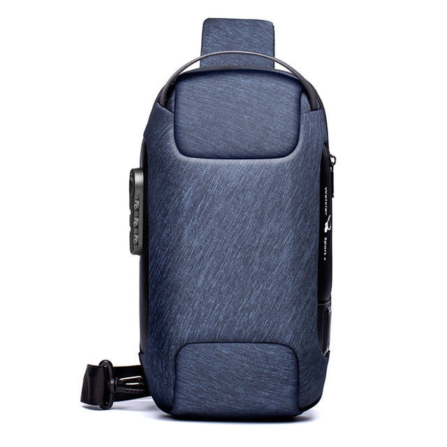 KbnMart Waterproof Multi-function Cross body Bag Anti-theft Messenger Chest Shoulder Bag Pack For Men - KbnMart