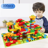 Marble Race Run Blocks Compatible Duploed Building Blocks Funnel Slide Blocks DIY Bricks Toy Educational Toys For Children gift - KbnMart