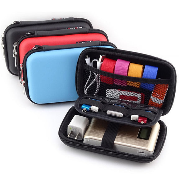 KbnMart Digital Gadgets Device Storage Bag for Earphone HDD SD Card Data Cable Phone Power Bank Electronics Accessories Organizer Case