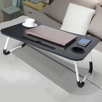 KbnMart Foldable Portable Laptop Stand Bed Lazy Laptop Table Small Desk Breakfast Tray Furniture Computer Desk Folding Lazy Laptop Desk
