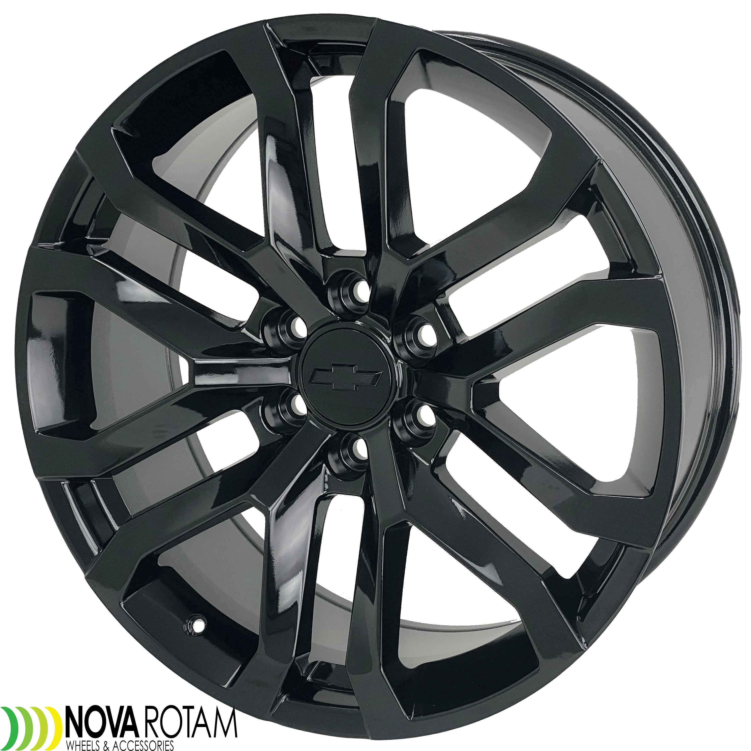22 Black Wheels Rims Fits Chevy Silverado Gmc Sierra At4 Trailboss Yukon Denali Escalade 1999 2020 Nova Rotam