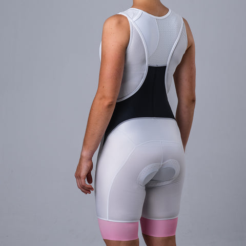 Pol Bib Short - Pink/White