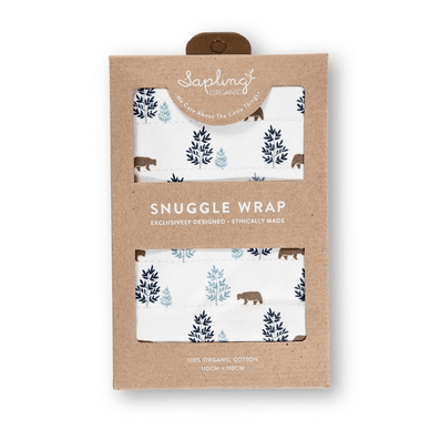 Organic Cotton Beary Cuddly Snuggle Wrap - Stork Post
