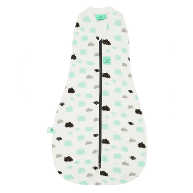 Organic Ergo Coccoon Baby Sleep Bag  in Clouds (1.0 TOG) - Stork Post